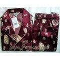 Envío Gratis hombres Chinos de Seda Rayón 2 unid Ropa de Dormir ropa de dormir Robe Pijamas Conjuntos de Baño Vestido L XL XXL SH006
