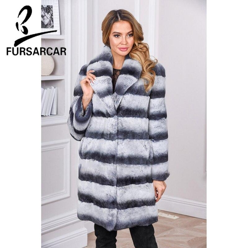 28dddefee12ee7 Luxus Pelzmantel 2018 Neue Mode Mantel Jacke Kaninchen Rex Lange Pelz  Chinchilla Stil Frauen Fursarcar Natürliche Warme Winter ym0ONnv8w