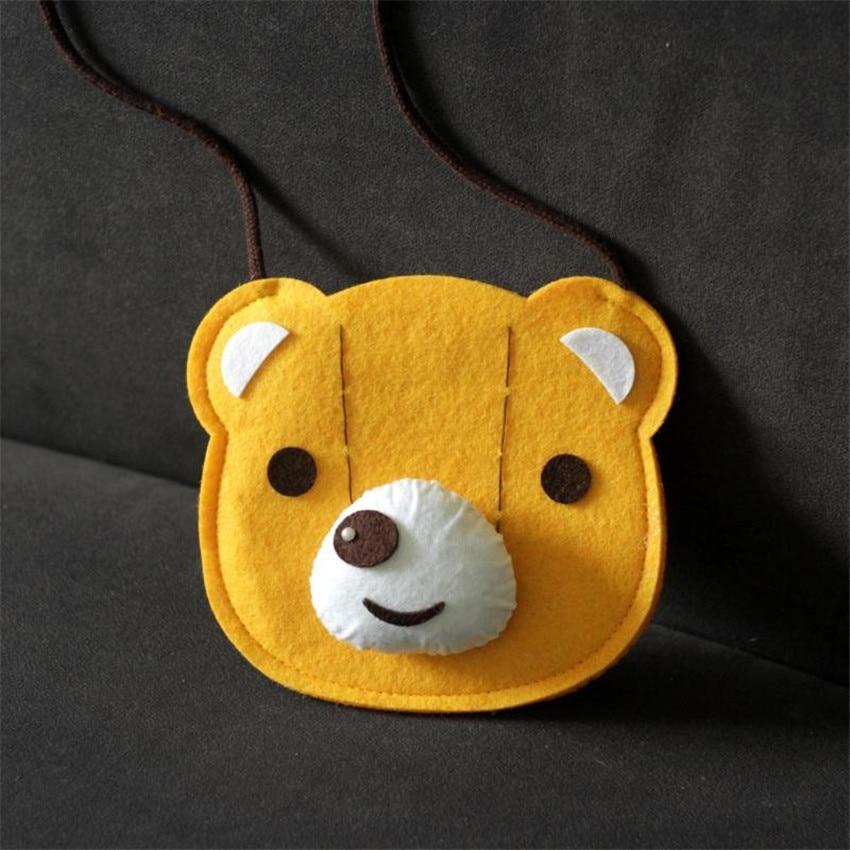 JC KIDS 10pcs/lot Baby Kids Fabrics Bear Coin Purse 15.5*18CM Small Bag For Children Girls Handmade Small Bag 10pcs lot small flower baby kids hair