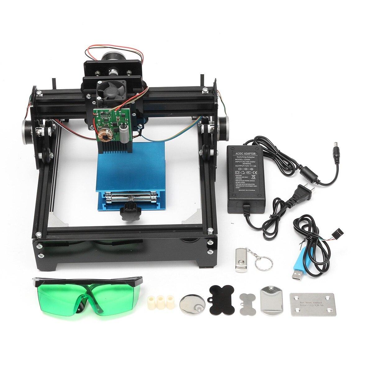 Aire de gravure 14x20 cm 15 w Laser COMME-5 USB De Bureau 15000 mw CNC Laser Graveur DIY machine de marquage Pour Le Métal Pierre Bois