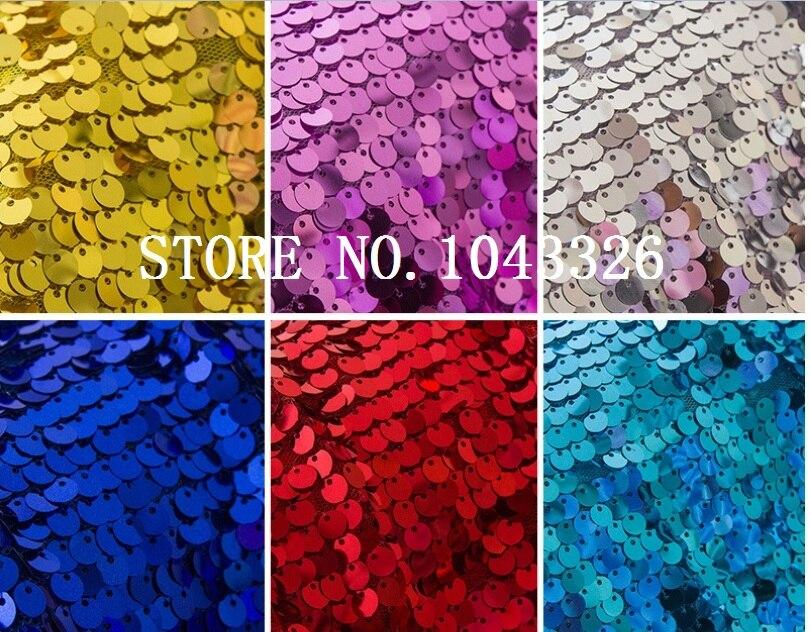 5yards / lot dobrá kvalita Jiskřivé šifrování Sequin Glamorous fabric for Wedding party decor DIY Stolní sukně Pozadí