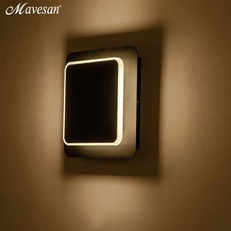 Черно-белые настенные светильники для спальни, гостиной, квадратного AC90-260V, светодиодный настенный светильник в помещении, вращающийся позолоченный металлический бра 5 Вт/16 Вт