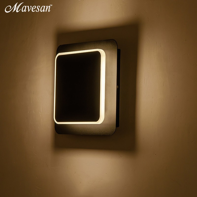 Image 2 - White black body Wall Lamps for Bedroom living room square  AC90 260V Indoor Led Wall Light Rotatable Plated Metal 5W/16W SconceLED Indoor Wall Lamps   -