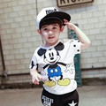 Boy clothes summer Mickey Children Clothing sets top+pant cotton superman t-shirts&pants kids clothes baby boy clothes 2-7years