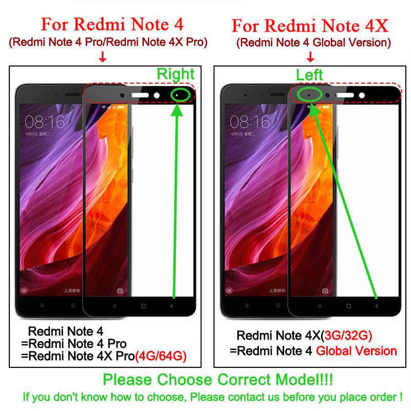 מלא כיסוי מזג זכוכית עבור Xiaomi Redmi 4 4A 4Pro 4 ראש Redmi הערה 4X פרו הערה 4X צבעוני מסך מגן משוריינת סרט