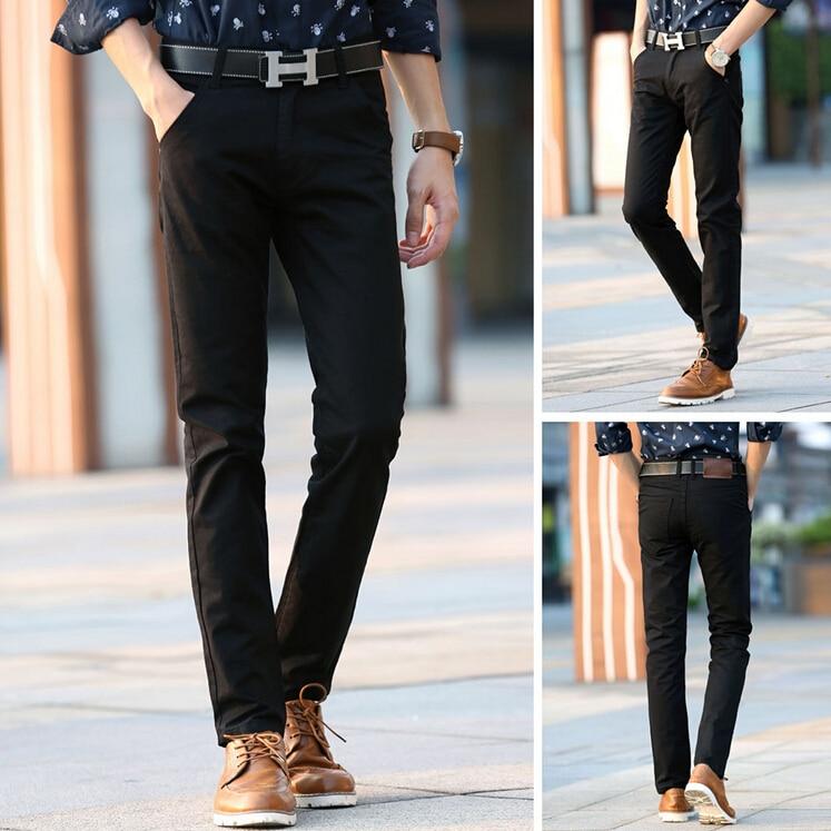 2019 Sıcak Marka Rahat Pantolon Erkekler Orta Tam Ince Düz Takım - Erkek Giyim - Fotoğraf 5
