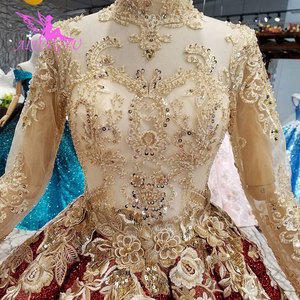 Image 4 - AIJINGYU Long Tail Wedding Dress Casual Gown India Turkey With Ruffles Rustic Brides All Gowns Wedding Dresses