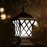 Solaire chapeau de Poteau Lampe Éclairage Extérieur Mur Lampes Balcon LED Applique Étanche Jardin Luminaires En Aluminium Lumières Lampara