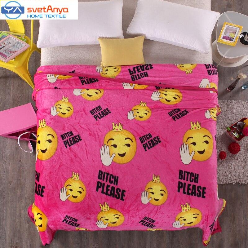 Popular emoji blankets buy cheap emoji blankets lots from - Cobertor para sofa ...