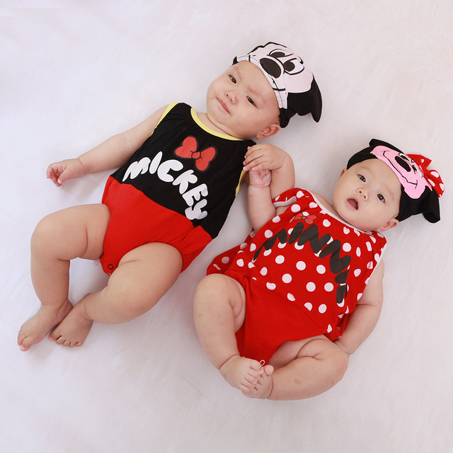 Baby girls boys romper jumpsuit newborn baby overall summer clothes Costume conjoined creeper mickey minnie ropers  sc 1 st  AliExpress.com & Baby girls boys romper jumpsuit newborn baby overall summer clothes ...
