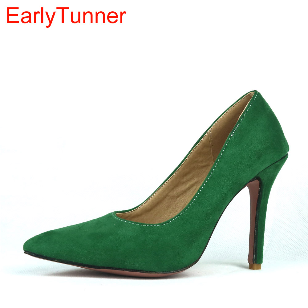 Brand New Elegant Green Red Women Nude Formal Pumps Black Office Ladies Shoes High Gladiator Heels EMS27 Plus Big Size 12 31 47 brand new hot sales women nude ankle boots red black buckle ladies riding spike shoes high heels emb08 plus big size 32 45 11