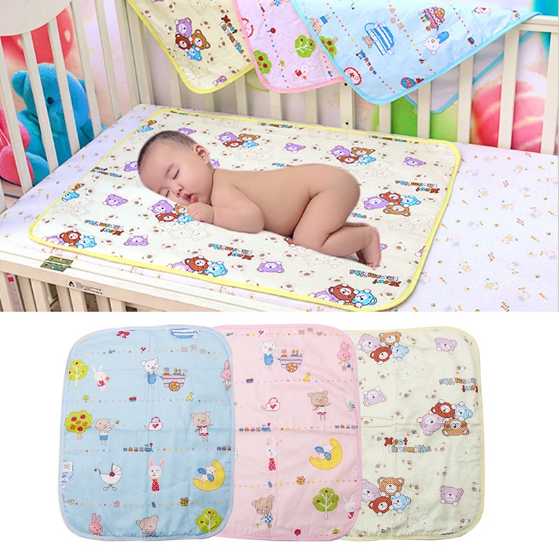 Baby Infant Nappy Urine Mat Kid Waterproof Bedding Changing Diaper Cover Pad