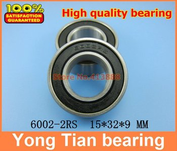 (1pcs) High quality deep groove ball bearing double rubber sealing cover 6002-2RS 15*32*9 mm image