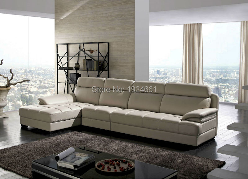 Armchair Chaise Sectional Sofa No Hot Sale Set Real Modern Italian Style Leather Corner Sofas For Living Room Furniture Sets
