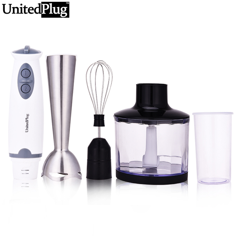 UnitedPlug 4 in 1 Multi-function electric food blender set detachable hand blender kitchen thermomix vegetable blend set 1302B-3 cukyi household electric multi function cooker 220v stainless steel colorful stew cook steam machine 5 in 1