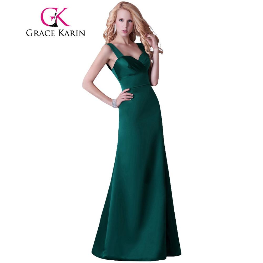 Grace Karin Dark Emerald Green Evening Dresses Women Elegant Long ...