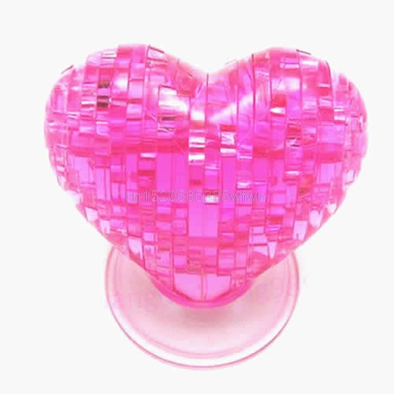 3D Crystal Model DIY Love Heart Puzzle Jigsaw IQ Toy Furnish Gift Souptoy Gadget #HC6U# Drop shipping(China)