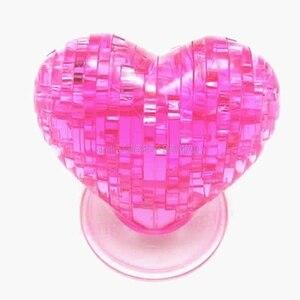 3D Crystal Model DIY Love Heart Puzzle Jigsaw IQ Toy Furnish Gift Souptoy Gadget #HC6U# Drop shipping(China)