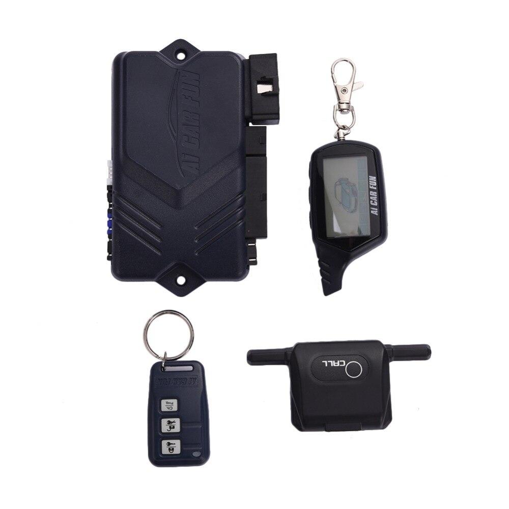 Livraison directe voiture bidirectionnelle alarme antivol porte-clés RC système antivol Version russe système d'alarme de voiture pour Twage B9 - 4