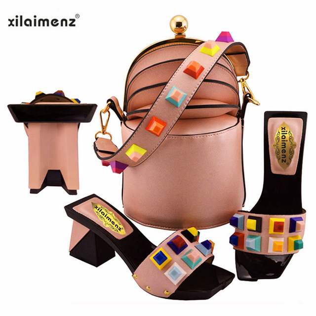Novelty Design African Shoe and Bag Set Women Italian African Party Shoes and Bag Italian Shoes with Matching Bags Party Shoes