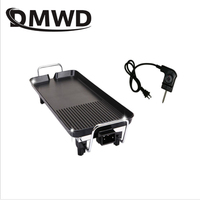 DMWD 110V Electric Roast Kebab Cooking Grill BBQ Roaster Oven Non stick Barbecue Raclette Smokeless Griddles Baking Pan Hotplate
