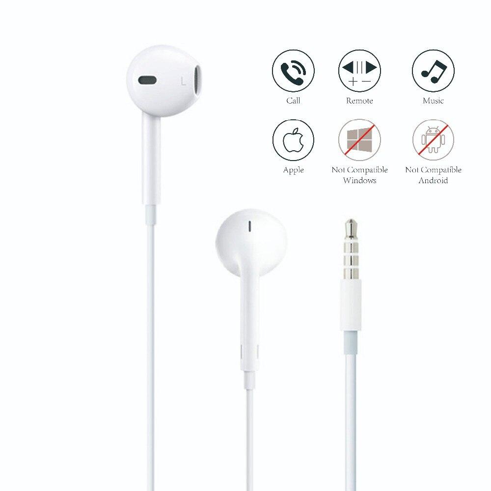 Apple der Kopfhörer für Handy Apple EarPods mit 3,5mm Ohr handys Für iPhone 5/5 s/ 5c/6/6 s Plus/SE iPad Mac mit Mic