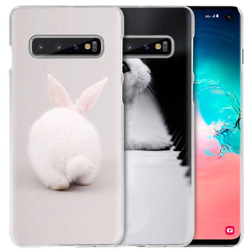 Blanco bebé conejos funda para Samsung Galaxy S10 5G S10e S9 S8 M30 M20 M10 J4 J6 más J8 2018 Nota 8 9 dura del teléfono de la PC de la cubierta
