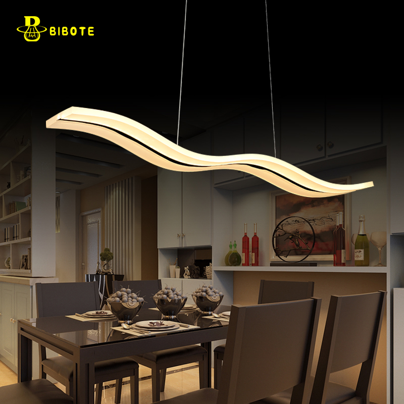 LED Pendant Lights Lamps Living Room Lights Modern Simple Newest Wave Design 38W Excellent Acrylic Indoor Home Hanging Lighting dimmable pendant lights led crystal lighting hanging lamps indoor home light with remote control for hallway indoor home deco
