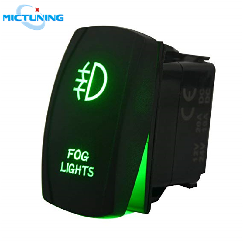 MICTUNING Universal Dual USB Power Charger Red LED Light For Rocker Switch Panel