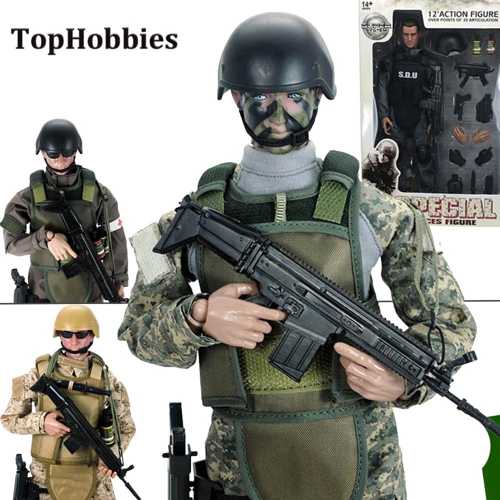 """Black SDU Uniform Outfits Fit 12/"""" 1:6  Action Figure Model 1//6 Scale Toys"""