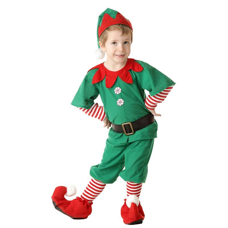 nio feliz navidad traje de duende del beb pequeo lindo de halloween ropa traje top