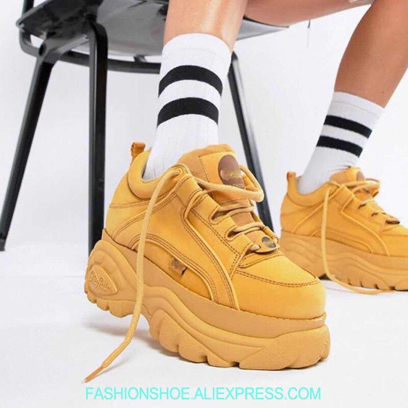 Новинка 2018 г. на толстой платформе Для женщин кроссовки Тангенциальный кроссовки для подиума женские ботинки криперы женские повседневные