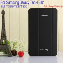 PU Leather Case for Samsung Galaxy Tab 4 T330 T331 T335 8.0 Tablet Ultra Slim Magnet Folding Smart Cover+Screen Protector+Pen