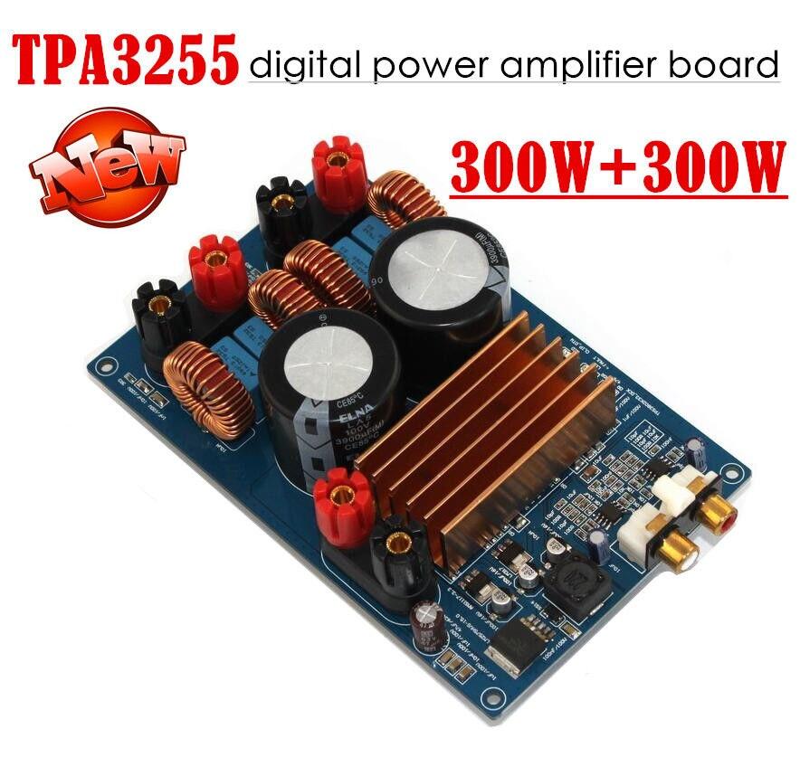 Amplificateur de puissance numérique TPA3255 classe D amplificateur Audio assemblé carte HiFi 300 W + 300 W