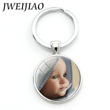 JWEIJIAO Personalized Photo key chains Custom Keychain Photo