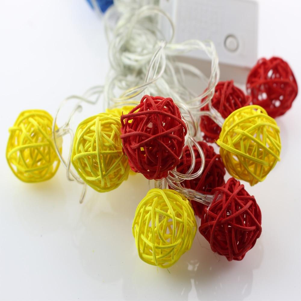 Led Lighting Lights & Lighting 50pcs/lot 5m 20leds Multicolor Led Ball String Lights Outdoor Christmas Lights Home Party Decoration Ac 220v 110v Eu Us Plug