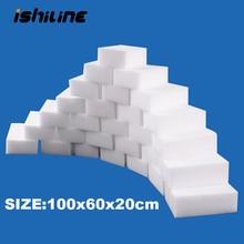 100 шт./лот меламиновая губка волшебная губка Ластик Меламиновый очиститель для кухня, ванная, офис нано чистящие губки 10x6x2cm