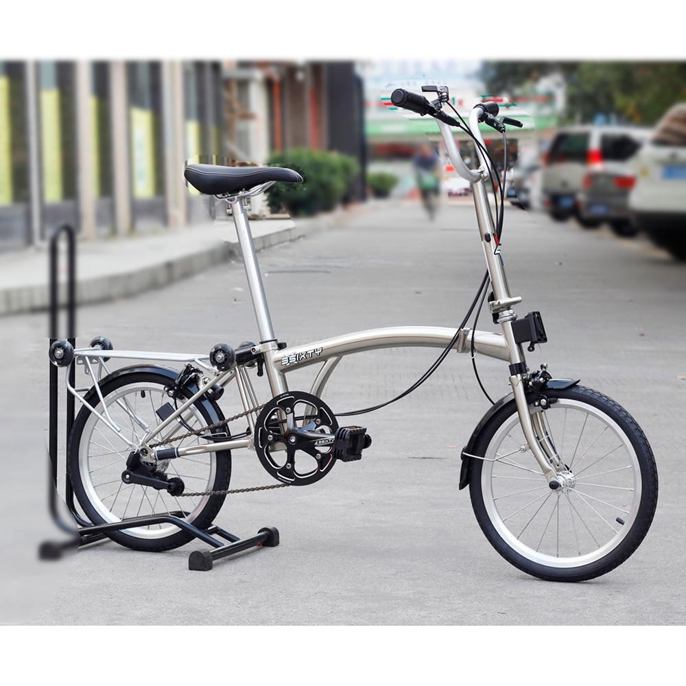 Хромированная сталь складной велосипед 16 349 городской пригородных Велосипедный спорт с Суппорт тормозной задний багажник внутренняя 3