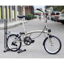 Chrome Steel Folding Bike 16 349 Urban Commuter Bicycle with Caliper Brake Rear Rack Inner 3