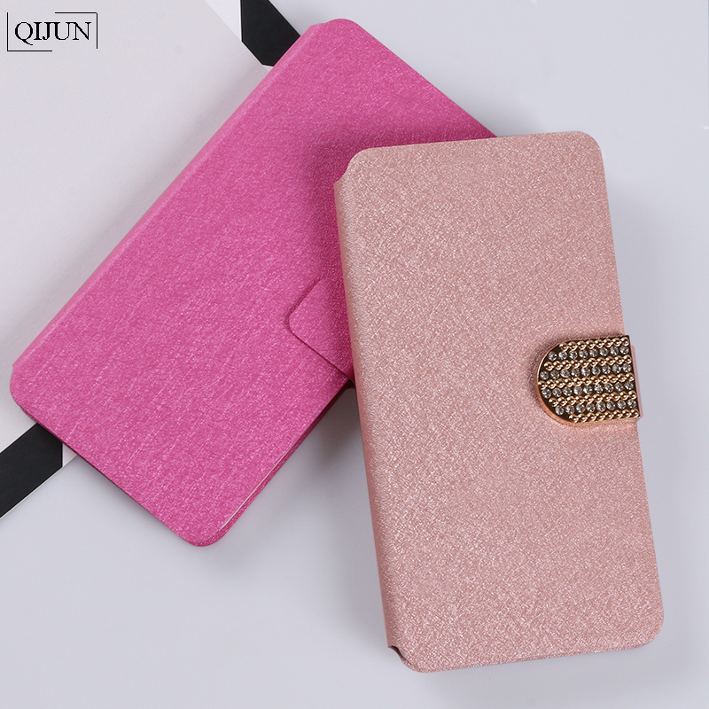 QIJUN Case Flip Stand Card Slot Silk Cover For LG G2 G3 G4 G6 Mini d618 Mange C90 g3s Wallet Phone Bag Coque