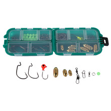 82pcs/Set Carp Fishing Tool Set Box Tackle Accessory Sea Fly Fishing Lead Sinker Weight Lure Bait Stopper Bead with Crank Hook