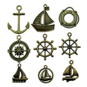 WYSIWYG 10pcs Charms For Jewelry Making Anchor Pendant