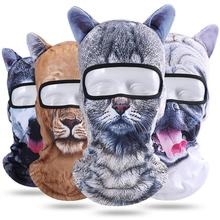 Buy Hot Sale 3D Cat Dog Balaclava Full Face Mask Warm Helmet Liner Running Cycling Snowboard Bike Bicycle Riding Face Shield Hat directly from merchant!