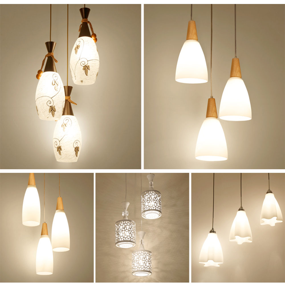 HGhomeart Modern Pendant Lamps Design Dining Room Lights Restaurant Lighting  Luminaria 110V-220V E27 Led Pendant Lights Lamp hghomeart children room iron aircraft pendant light led 110v 220v e14 led lamp boy pendant lights for dining room modern hanging
