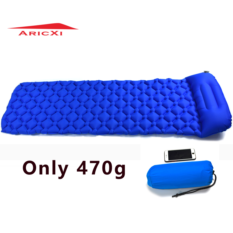 2018 Outdoor Inflatable Cushion Sleeping Bag Mat Fast Filling Air Moistureproof Camping Mat With Pillow Sleeping Pad 470g inflatable sleeping pad camping mat with pillow air mattress cushion sleeping bag air sofas inflatable sofa