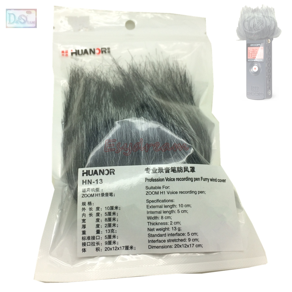 Professional Outdoor Dusty MIC Furry Cover Windscreen Windshield Muff For ZOOM H1 Deadcat Wind Shield Microphone
