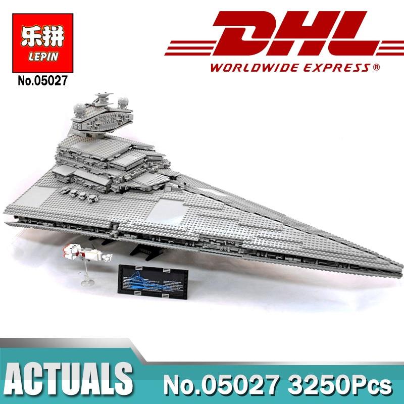 In Magazzino LEPIN 05027 3250 Pcs Imperial Star Destroyer Imperatore Fighters Star la nave UCS Modello di Costruzione di Blocchi di Mattoni Legoings 10030