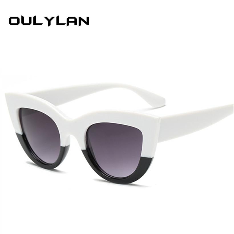 2f074457de Oulylan de ojo de gato gafas de sol para mujer de diseñador de la marca  gafas de sol de mujer 2019 gafas de moda UV400 ojos de gato gafas de sol