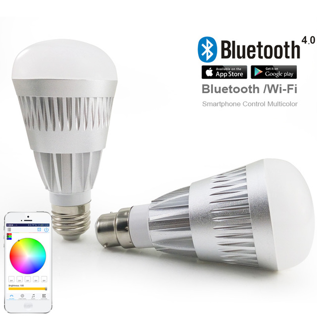 16Million colors Bluetooth 10W led magic bulb,dimmable,multicolored Novelty led lamps,for party KTV wedding holiday desk lamp