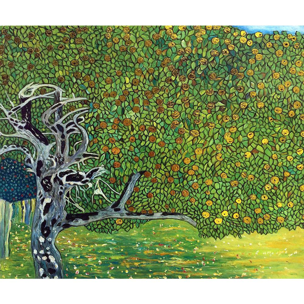 Wall art Landscapes gold painting Gustav klimt Golden Apple Tree Oil paintings on canvas reproduction Hand painted Home decorWall art Landscapes gold painting Gustav klimt Golden Apple Tree Oil paintings on canvas reproduction Hand painted Home decor